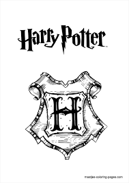 Sign Harry Potter Coloring Pages