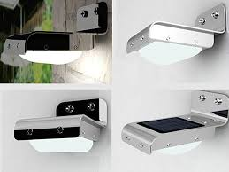 side or wall mount solar light with pir motion sensor
