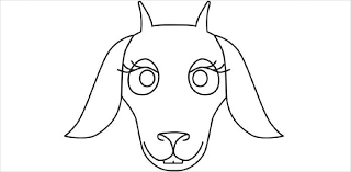 Pin Mask Clipart Goat 9