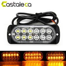 Castaleca Car Truck Trailer Side Marker Strobe Lights Amber 12 LED ... Light Truck Strobe Ford Expands Firstever Factoryinstalled Warning Led Lights 12v 24v 18w 6 Waterproof Car Emergency Beacon Cyan Soil Bay 4 Rv Flash Bar 2016 F150 Adds Builtin For Fleet Vehicles Hideaway Automotives Hideaway Mini Vehicle Trailer Round Led For Trucks 4428 Watch Now Accsories 54 Blue Red Nwhosale New 2 X 48 96led Flashing 4led 19 Function Parts 26422rd Recon 2x22 Flasher Lamp Bars With
