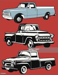 100 Vintage Trucks Three Vector Art Getty Images