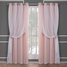 rosa schwarz blackout öse vorhänge für prinzessin wohnzimmer