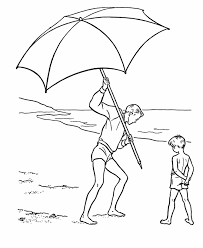 Beach Umbrella Coloring Page 1698675