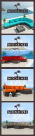 Northcape Patio Furniture Cabo by Modenzi 7x Modern Patio Rattan Wicker Set Outdoor Sectional Sofa
