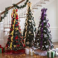 Pencil Thin Artificial Christmas Tree New White Trees With Lights 54 Best Fake