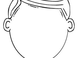 Blank Coloring Page Face Home