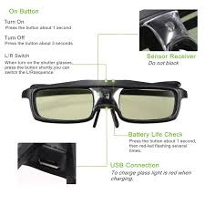 active shutter 3d glasses dlp link projector accessories for