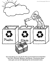 Recycle Coloring Pages 1993715