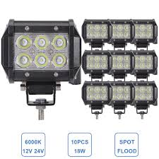 18W LED Work Light Bike Motorcycle Offroad Truck Car ATV SUV Boat ... 30 480w Led Work Light Bar Combo Driving Fog Lamp Offroad Truck Work Light Bar 4x4 Offroad Atv Truck Quad Flood Lamp 8 36w 12x Amazonca Accent Off Road Lighting Lights Best Led Rock Lights Kit For Jeep 8pcs Pod 18inch 108w Led Cree For Offroad Suv Hightech Rigid Industries Adapt Recoil 2017 Ford Raptor Race Truck Front Bumper Light Bar Mount Foutz Spotlight 110 Rc Model Car Buggy Ctn 18w Warning 63w Dg1 Dragon System Pods Rock Universal Fit Waterproof Cars