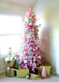 Flocked Christmas Tree Shop All Pink Trees A Artificial Clearance