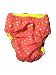 Barkertime Pink Neon Polka Washable Dog Diaper