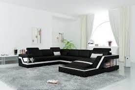 canape d angle noir et blanc canapé d angle panoramique en cuir italien design et pas cher york