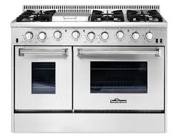 THOR 48 inch range double ovens and griddle