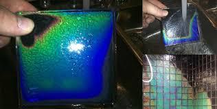 heat sensitive shower tiles change colours as it warms up