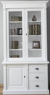 casa padrino landhausstil massivholz schrank mit 3 türen und 3 schubladen weiß 120 x 51 x h 228 cm wohnzimmerschrank landhausstil möbel
