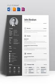 Minimal Creative CV Resume Template Cv Template Professional Curriculum Vitae Minimalist Design Ms Word Cover Letter 1 2 And 3 Page Simple Resume Instant Sample Format Awesome Impressive Resume Cv Mplate With Nice Typography Simple Design Vector Free Minimalistic Clean Ps Ai On Behance Alice In Indd Ai 15 Templates Sleek Minimal 4p Ocane Creative