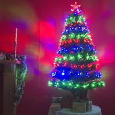 5ft Christmas Tree With Led Lights by 5ft Green Artificial Fibre Optic Led Christmas Xmas Tree With