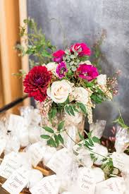 White Green And Pink Floral Arrangement From A Modern Rustic Baby Shower On Karas