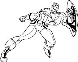 Captian America Coloring Pages Captain Civil War Marvel Avengers Media P