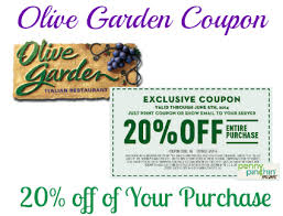 Save  off of Your Purchase at Olive Garden
