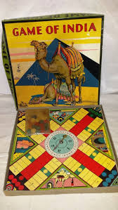 Vintage 1930s GAME OF INDIA 4043 Parcheesi Game By Milton Bradley BoardsBoard