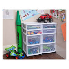 Sterilite 2 Shelf Storage Cabinet 2 Pack by Sterilite 4 Drawer Storage Cart 2 Pack 28228002