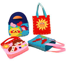 Girls Nonwoven DIY Handbag Kids Handmade Toy Bag Children Educational Handwork In Costumes Accessories From Novelty