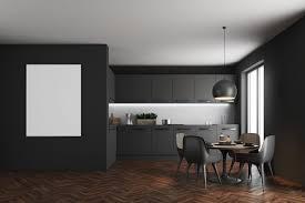 schwarze esszimmer minimalistisch bis mondän