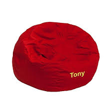 Flash Furniture Personalized Kids Small Bean Bag Chair In Red