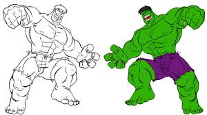 Hulk Coloring Book Pages For Kids Superhero Colouring Video Learn