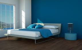 Guide To Master Bedroom Paint Colours Home Xmas Dark Blue Accent Wall Compliments Grey Bed In Decor