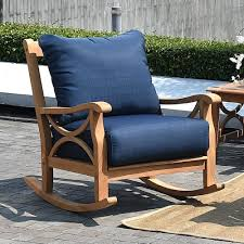 Havenside Home Lowell Teak Patio Rocking Chair With Cushion