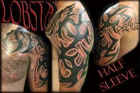 Custom Tribal Half Sleeve By Lobsta Tattoos