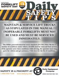 100 Powered Industrial Truck Preventive Maintenance Is An OSHA Mandate Daily Equipment Company