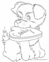 Valentines Day Dog Coloring Page