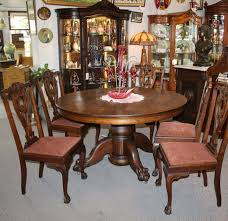 Dining Rooms Glamorous Antique Round Room Sets Table And ...