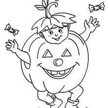 Dracula Pumpkin Costume Coloring Page