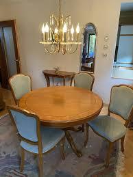 selva esszimmer antik 4 stühle und tisch ausziehbar