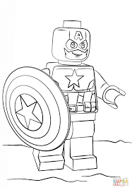 Download Coloring Pages Lego Spiderman Captain America Page Free Printable