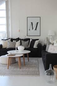 déco canapé noir en noir et blanc inspiration déco