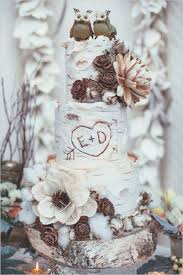 Rustic Winter Birch Wedding Cake