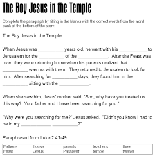 Lesson 5 Jesus In The Temple