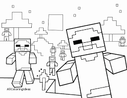Minecraft Coloring Pages Steve New Printable Books To Her With