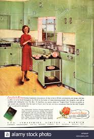 1950s Kitchen English Rose Design Advertisement 1958 EDITORIAL USE ONLY