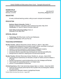 Early Childhood Education Resumes Special Resume Samples Sample Preschool Teacher Examples