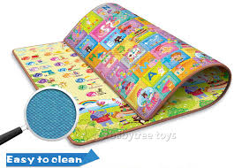 Eco Friendly 200 160cm Baby Play Mat with Alphabet and Animal