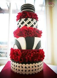 60 Beautiful Red Black And White Wedding Cakes Wedding