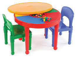 Tot Tutors Kids 2-in-1 Plastic LEGO®-Compatible Activity Table And 2 ...