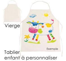 tablier cuisine pour enfant tablier de cuisine pour enfant en coton à peindre et personnaliser