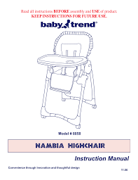 BabyTrend 8856 - TREND HIGH CHAIR - SERENGETTI User Manual ... High Chair Baby Booster Toddler Feeding Seat Adjustable Foldable Recling Pink Chairs Kohls Trend Deluxe 2in1 Diamond Wave 97 Admirably Pictures Of Doll Walmart Best Giselle 40 Pounds Baby Trends High Chair Cover Lowang Top 10 In 2019 Alltoptenreviews Amazoncom Sit Right Floral Garden Shop Babytrend Dine Time 3in1 Online Dubai Styles Portable Design Go Lite Snap Gear 5in1 Center